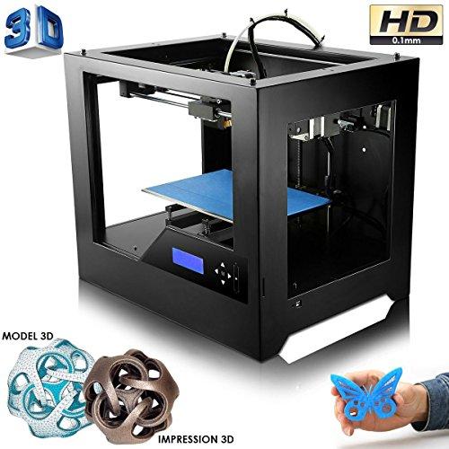 Imprimante 3D haute prcision en mtal conception ABS PLA noir
