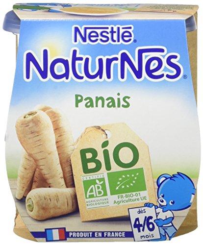 Nestlé Bébé Naturnes Bio Panais Purée de Légumes Dès 4/6 Mois 2 X 130 G - Lot de 6