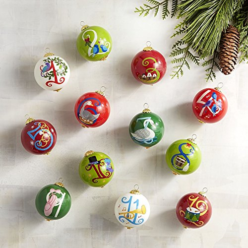 Brightly Colored Round Glass Christmas Baubles
