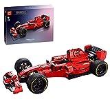WWEI Juego de bloques de construcción para coche de carreras de Fórmula 1 F1, 1138 piezas rojas de 18 K, modelo deportivo con bloques de sujeción, compatible con Lego Racers 8386 Ferrari F1 Racer