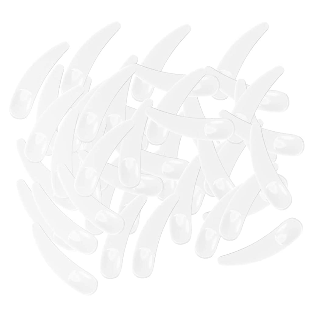 堤防発掘粘土gazechimp 5色選ぶ ミニ 化粧品へら ミキシングスティック スプーン - ホワイト