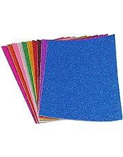 Skum EVA ark glitter färg papper A4 kort blandade färger barn konst gör-det-själv hantverk hantverk 10 st färgglada