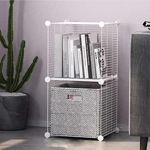 Glamexx24 Hallo Home®- Regalsystem Steckregal aus Metalldraht Aufbewahrungsregal Regalwürfel Bücherregal Spielzeug Organisator Schrank 2 Cube Schwarz