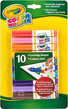 Crayola Color Wonder Markers Mess Free Coloring 10 Count Gift for Kids Age 3 4 5 6