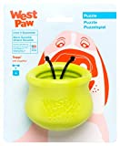 West Paw Zogoflex Toppl Treat Dispensing Dog Toy Puzzle – Interactive Chew Toys for Dogs – Dog Toy for Moderate Chewers, Fetch, Catch – Holds Kibble, Treats, Small, Granny Smith