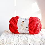 Chenille Yarn, Super Soft Chunky Knit Chenille...