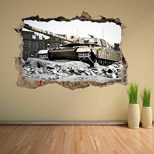 Pegatinas de pared Pegatina de pared del ejército militar, calcomanía mural para niños, dormitorio, hogar, oficina, decoración, póster, papel tapiz- 70×100cm