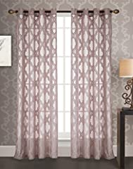 Includes (1x) 54 x 84 in. knit jacquard grommet curtain panel Curtain features 8 metal grommets Refresh home décor with these sophisticated knit jacquard grommet curtain panels Machine washable - see care label