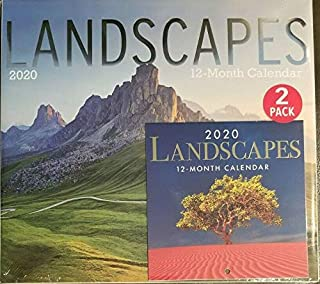2 Pack of 12 Month 2020 Wall Calendars Landscapes New Sealed