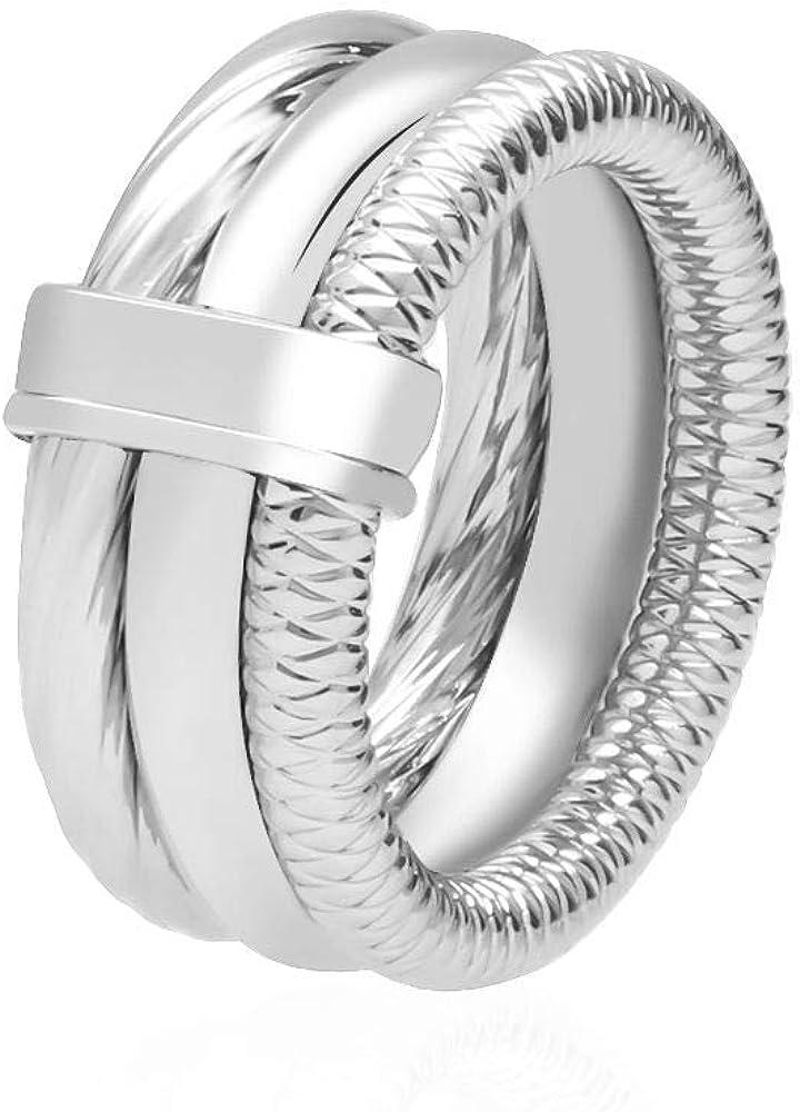 L`anello da donna stroili e` realizzato in acciaio C1665724