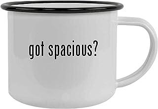 got spacious? - 12oz Stainless Steel Camping Mug, Black