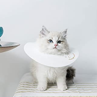 CAFILRA Pet Recovery E-Collar Cones (10 Pack) for Cats & Small Dogs After Surgery,Comfy Soft Elizabethan Kitten Neck Cone of Shame,Puppy Head Medical Collar,DIY to Prevent Licking Wounds & Rashes