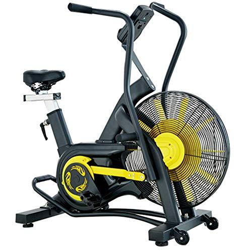 WGFGXQ Bicicleta estática con Ventilador Vertical con Resistencia ilimitada, Entrenamiento y Entrenamiento Cardiovascular, sillín Ajustable, Pantalla LCD - Máx.Peso del Usuario 150 kg