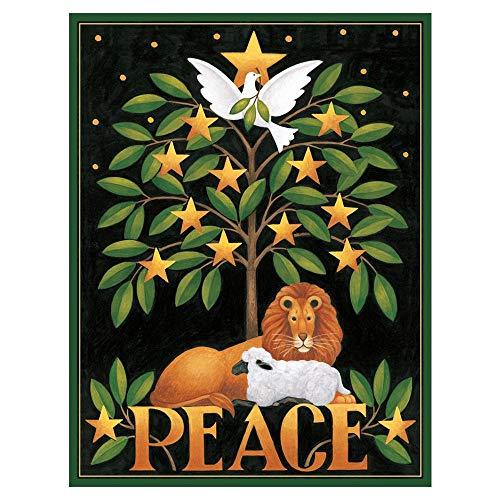 Caspari Peace Lion & Lamb Boxed Christmas Cards - 16 Cards & Envelopes