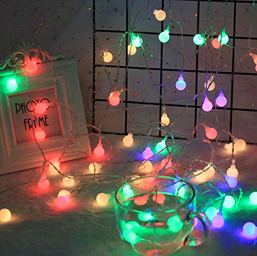 Adoture LED Globe String Light,New-USB Fairy Lights,IP67 Waterproof,8 Modes,16.5ft Ball Fairy Lights with Remote & Timer for Outdoor,Party, Gazebo,Christmas,Wedding,Bedroom Decoration (Multicolor)