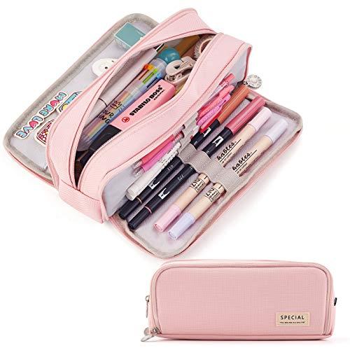 CICIMELON Large Capacity Pencil Case 3 Compartment Pouch Pen Bag for School Teen Girl Boy Men Women...
