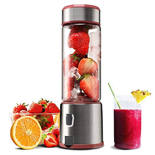 Portable Blender, KACSOO 5200mAh USB Rechargable Cordless Blender for Smoothie and Shakes, 15OZ...