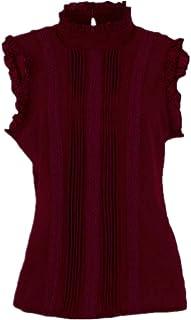 N\P Sommerlicher Stil, Vogue, Damen-Shirt, Rüschenärmel, schmal, tailliert, leger, Büro, Damen, weiße Bluse