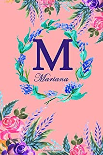 M: Mariana: Mariana Monogrammed Personalised Custom Name Daily Planner / Organiser / To Do List - 6x9 - Letter M Monogram...