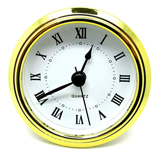 Nuevo Cuarzo Recambio Dorado Bisel Reloj Insertable Romano Números Goma para WF -188 - Oro, 78mm Insert - 73mm Hole