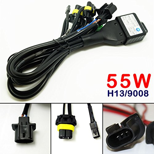 Feeldo 12 V 55 W H13/9008 Hi/Lo Faisceau Bi-Xenon Relais Harnais pour HID Kit de conversion
