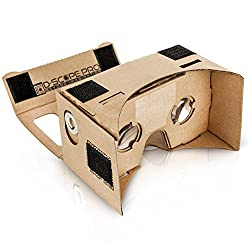 Image: D-scope Pro Google Cardboard Kit with Straps | 3D Virtual Reality Compatible with Android and Apple | Easy Setup Instructions | Machine Cut Quality Construction | 45mm Lenses HD Visual Experience
