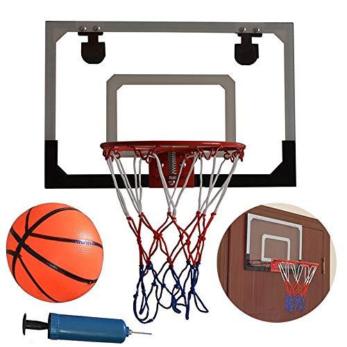 NOBLJX Basketball-Rückwand, Durchsichtige Wandhalterungen Für Kinder Mit Basketball Und Pumpe Maximaler Anwendbarer Kugeldurchmesser 5