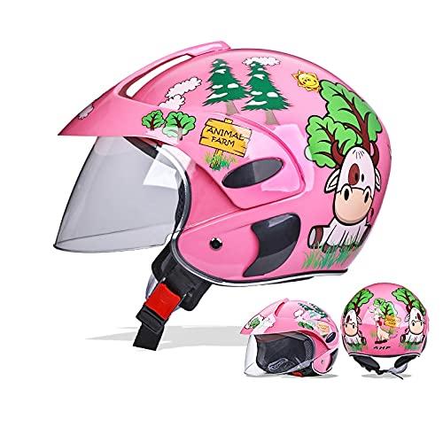 ARGYJAE New Children's Cascos para niños Boys Girls Motocicleta Ciclismo Casco para niños para Deportes al Aire Libre Four Seasons 48-52cm (Color : M)