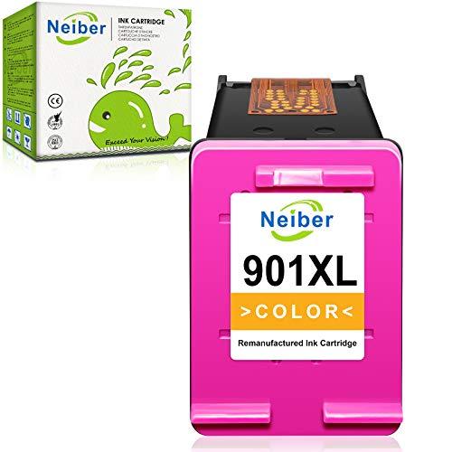 Neiber Cartucce d'inchiostro Compatibile per HP 901 901XL per HP OfficeJet 4500 G510a J4524 J4525 J4535 J4540 J4550 J4580 J4585 J4624 J4660 J4680 J4680c J4860(1xColore)