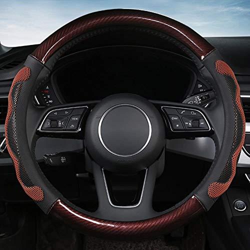 NFRADFM Autolenkradabdeckung 38CM Mikrofaserleder, Für Mercedes-Benz Smart Fortwo 450 Audi und andere...