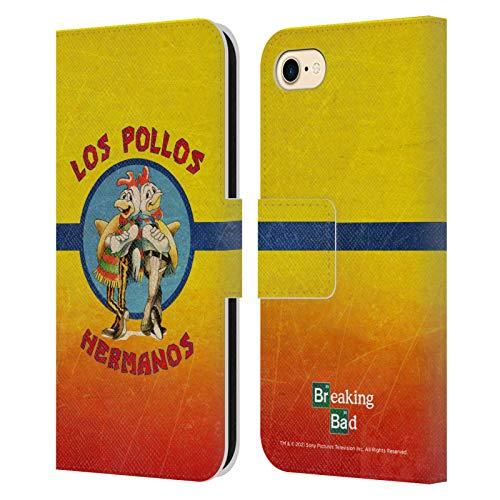 Head Case Designs Licenza Ufficiale Breaking Bad Los Pollos Hermanos Grunge Iconico Cover in Pelle a Portafoglio Compatibile con Apple iPhone 7 / iPhone 8 / iPhone SE 2020