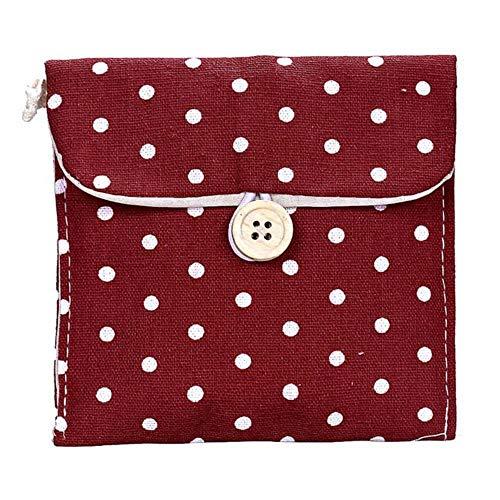SAKUROO 2 Stücke Mädchen Baumwolle Windel Damenbinde Paket Tasche Speicherorganisator Baumwolle Haushaltsorganisation, D