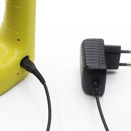 SODIAL Prise Européenne, Cable De Chargeur De Batterie D'Aspirateur en Verre De Fenêtre De 1,5M pour Karcher Wv2 / 50/60 / 70