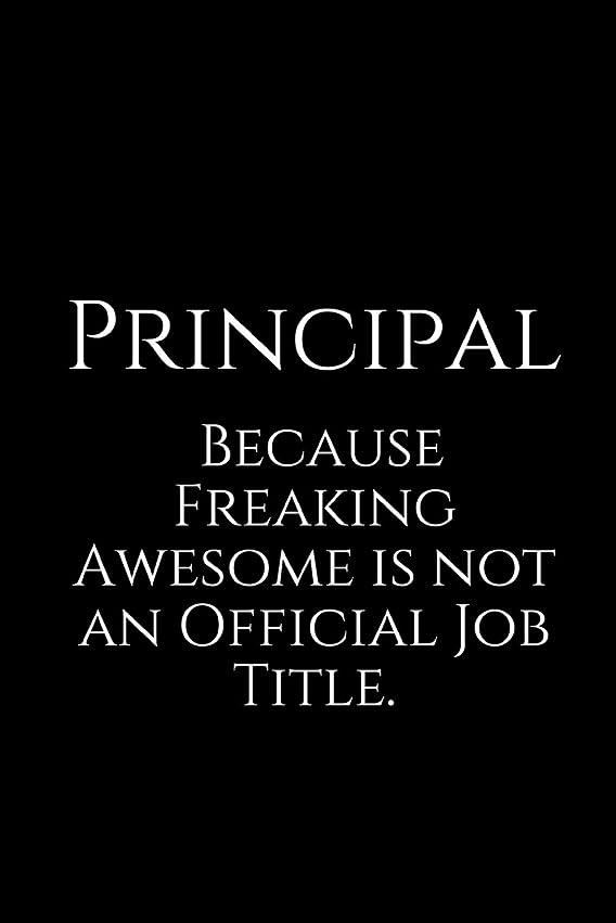 衝突コース新鮮な数学的なPrincipal Because Freaking Awesome is not an Official Job Title.: A Wide Ruled Notebook