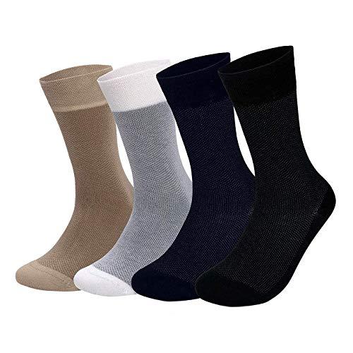 Patterned Bamboo Dress Trouser Business Socks for Men and Women