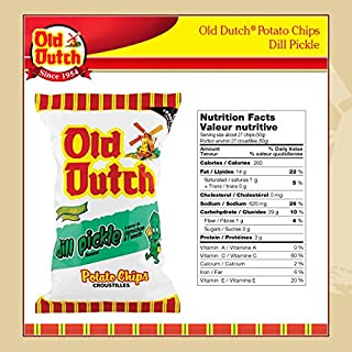 Old Dutch Dill Pickle Chips 2 Large Bags {Imported From Canada}