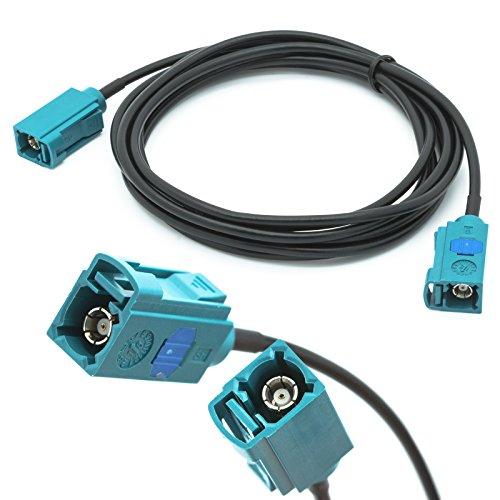 Adapter-Universe® Câble d'extension adaptateur universel de 2 m pour antenne de voiture prise Fakra femelle vers prise Fakra femelle Z RG174