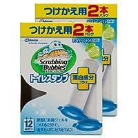 【まとめ買い】 スクラビングバブル トイレ洗浄剤 トイレスタンプ 漂白成分プラス ホワイティーシトラスの香り 付替用4本セット (2本入り×2箱) 38g×4本
