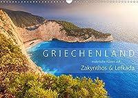 Griechenland - Malerische Kuesten auf Zakynthos und Lefkada (Wandkalender 2022 DIN A3 quer): Atemberaubende Kuesten in Griechenland, die Fernweh hervorrufen (Monatskalender, 14 Seiten )