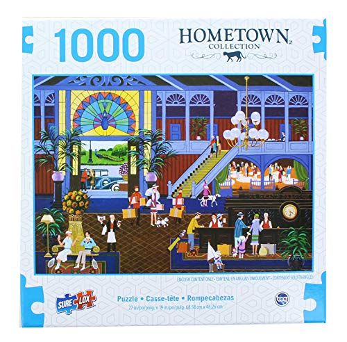 Checking in at The Grand Peacock 1000 Piece Puzzle