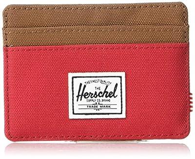 Herschel Men's Charlie, Red/saddle brown, One Size