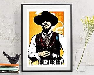 MugKD LLC Tombstone - Doc Holliday - I'm Your Huckleberry Movie Poster Art Print, Poster Art, Western Art, Man Cave Decor, Western Decor, Cowboy Art [No Framed] Poster Home Art Wall Posters (24x36)