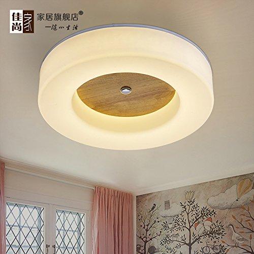 Preisvergleich Produktbild BLYC- Moderne minimalistische Schlafzimmer-Lampe kreative -Deckenleuchte Licht Nordic Chinesische feste Holz Deckenleuchten,  führte Schlafzimmer runden hölzernen Leuchter ,  diameter 50