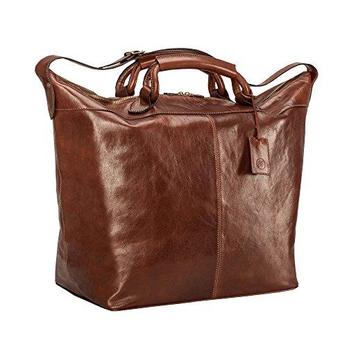 Maxwell Scott Bags® Luxus Reisetasche aus Leder