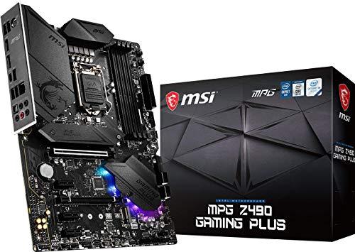 MSI MPG Z490 Gaming Plus Gaming Motherboard (ATX, 10th Gen Intel Core, LGA 1200 Socket, DDR4, CF, Dual M.2 Slots, USB 3.2 Gen 2, 2.5G LAN, DP/HDMI, Mystic Light RGB)