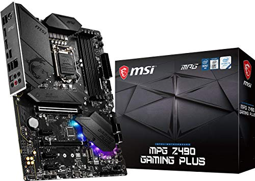 MSI MPG Z490 Gaming Plus Gaming Motherboard (ATX, 10th Gen...