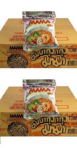 Pamai Pai® Doppelpack: 2 Kartons Mama Shrimp Instant Nudelsuppen 60 x 60g Yum Yum Garnele