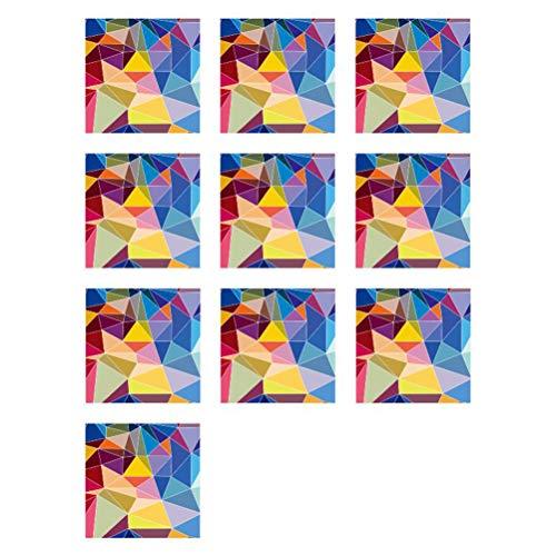 Vosarea Mosaik Fliesen Aufkleber Retro Anti Mold Peel und Stick Wandfliese Backsplash Fliesen wasserdichte Aufkleber für Küche Balkon Bad 10 STÜCKE