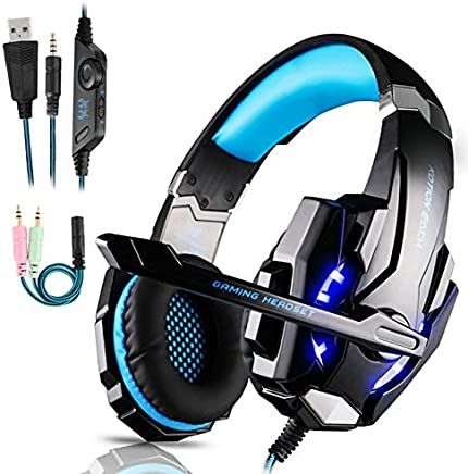 Cuffie da Gioco per PS4 Cuffie Gaming con 3.5mm Jack LED Cuffie da Gaming con Microfono Bass Stereo e Controllo Volume Gaming Headset per PS4/Xbox One X /S/Nintendo Switch/PC/Laptop/Tablet - Trova i prezzi più bassi