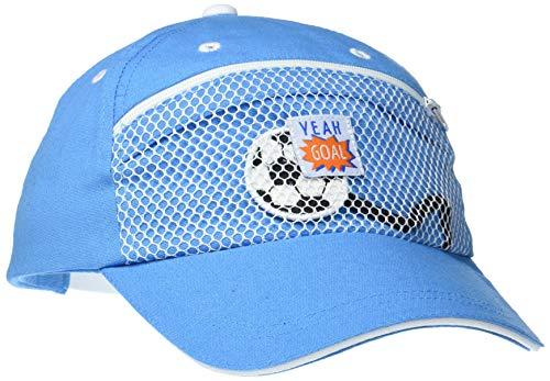 maximo Baby-Jungen Basecap Yeah Goal Kappe, Blau (Mittelmeerblau 15), 47/49